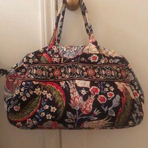 Vera Bradley paisley weekender travel bag